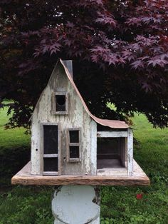 old farmhouse bird house.. no link. just loved the pic and want to duplicate the bird house at some point.
