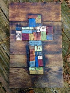 Distressed Rustic Reclaimed Wood Patchwork by MyBelovedReclaimed