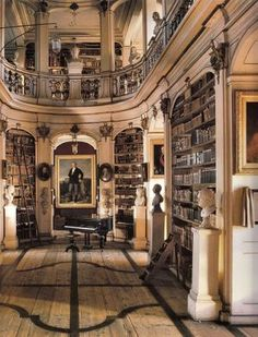 This looks like what Mr Darcy's library would be like http://mylusciouslife.com/stylish-home-libraries/