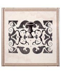 Parterre Grey 1 - Framed Print