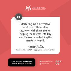 In an era of permission marketing, marketers need to be familiar with the common principles of business marketing. @SethGodin explains why marketing is a collaborative action.  #b2b #b2bmarketing #Valasys #Marketing #Branding #Branding101 #CustomerExperience #CXM