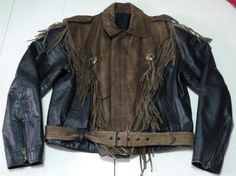 Vintage Brando Style Biker Motorcycle Black/Brown Real Leather Jacket For Men Motorcycle Fashion, Motorcycle Style, Motorcycle Jacket, Biker, Leather Fringe, Brown Leather, Leather Jacket, Vintage Men, Black And Brown