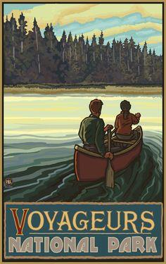 PAL-2865 LKCF Voyageurs National Park Lake Canoers Forest - Northwest Art Mall