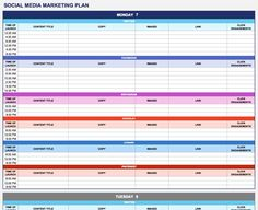007 marketing plan template excel ideas social media + related examples about unforgettable 2018 planner example free ~ Thealmanac Marketing Plan Template, Business Plan Template, Social Media Template, Marketing Calendar, E-mail Marketing, Marketing Proposal, Content Marketing, Digital Marketing, Google Calendar