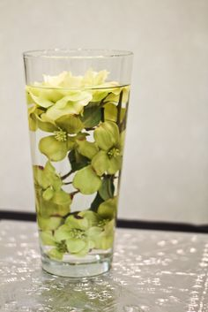 silk flowers in distilled water,