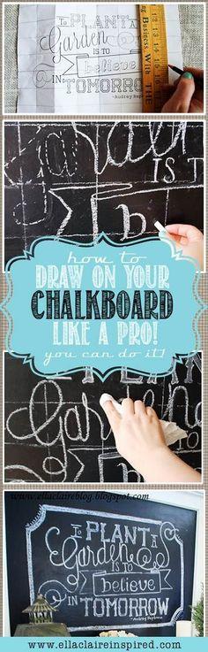 Bien écrire sur un tableau ou sur du tissu.