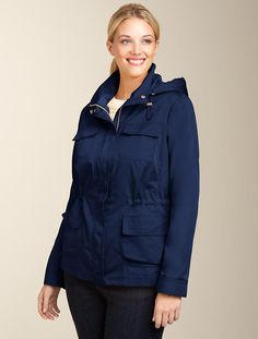 Talbots - Pearl Taffeta Anorak | Outerwear    I definitely bought this.  I also definitely didn't pay this price, but I LOVE this jacket.  Perfect waterproof with NO velcro!