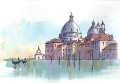 The beauty of #drawing is that you can spend weeks on a single image or just a few hours. Find out how to simplify and #sketch your favorite city scenes by following our profile link. #createart #sketching #citysketching #penart #watercolorart #sketchoftheday by becraftsy