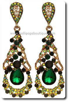 Green Earrings $14.00