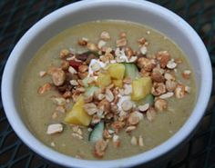 Curried Green Tomato Soup Green Tomato Recipes, Green Tomatoes, Tomato Soup, Soup And Salad, Cheeseburger Chowder, Soup Recipes, Soups, Oatmeal, Curry