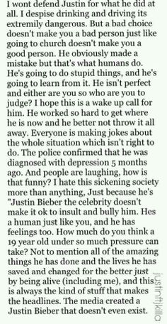 I couldn't have said it any better...I'm posting this on my other boards for all the people judging him...