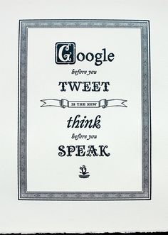 Google before you tweet #word