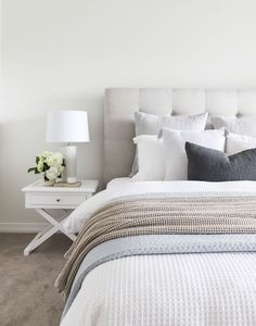 Home Decor Bedroom Catherine The Stables.Home Decor Bedroom Catherine The Stables Modern Bedroom Decor, Cozy Bedroom, Bedroom Furniture, Scandi Bedroom, Neutral Bedroom Decor, Bedroom Cushions, Modern Bedrooms, Trendy Bedroom, Bedroom Sets
