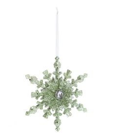 Glitter and Diamante Snowflake Tree Decoration - Christmas Joy Add a little sparkle to your tree with this Glitter and Diamante Snowflake Tree Decoration by Gisela Graham.