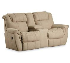 Lane Furniture   Montgomery Double Reclining Console Loveseat With Storage   216 43