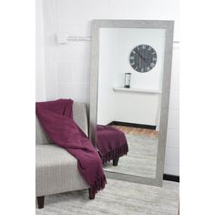 Created to enhance the functionality and style in your home, this modern, full body, matte black framed floor mirror is an impressive accessory to hang or lean in your bedroom, bathroom or living space. It comes with hooks allowing for vertical or horizontal hanging making this tall mirror easy to install.