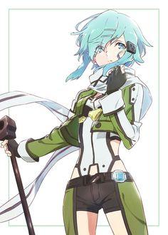 Sinon (Asada Shino) - By Sword Art Online ღ Sinon Ggo, Kirito Asuna, Character Creation, Character Art, Character Design, Arte Online, Online Art, Sword Art Online Manga, Asada Shino
