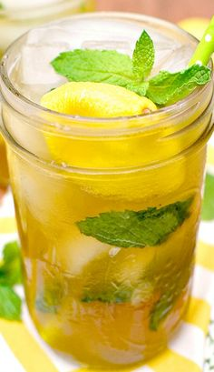 Sweet Tea Vodka Lemonade Mojitos  To make a Pitcher for a party=for every cup of lemonade add 4oz of sweet tea vodka