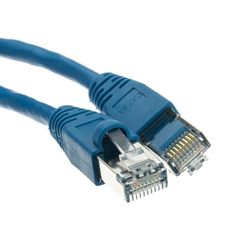Shielded Cat6a Blue Ethernet Patch Cable Snagless/Molded Boot 500 MHz 100 foot