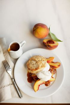 Peach and scones