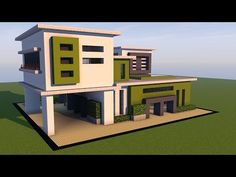Minecraft: How To Build A Large Modern House Tutorial ( 2017 ) - YouTube