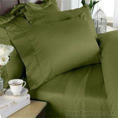 SleepBamboo 320-Thread-Count Bamboo King Sheet Set, Cedar, New (A) #SleepBamboo