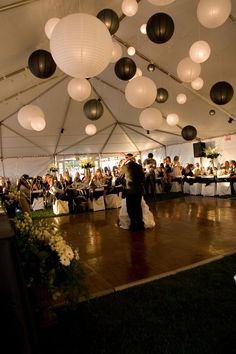 black + white wedding inspiration | reception wedding lanterns | v/ dipped in lace |