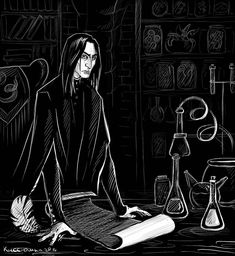 """In honor of the kick off to Snape Appreciation Month. crmediagal: """" A few gorgeous Severus Snape artworks I love by various talented artists: Marks by MistressAinley Severus by Ognivik obscure Snape. Professor Severus Snape, Snape Harry Potter, Harry Potter Severus Snape, Severus Rogue, Harry Potter Artwork, Harry Potter Facts, Harry Potter Fandom, Draco Malfoy, Hermione Granger"""