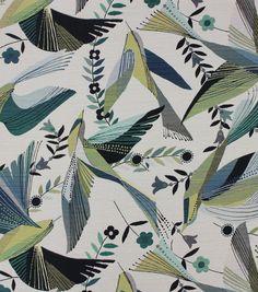 Richloom Fabrics Fabric-Hummingbird Peacock,