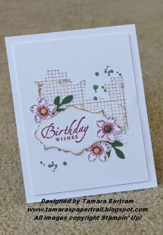 Handmade Cards; All Occasions; Off the Grid; Apothecary; Petite Petals; Stampin' Up!; Tamara's Paper Trail
