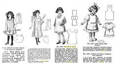 children's aprons from 1910s
