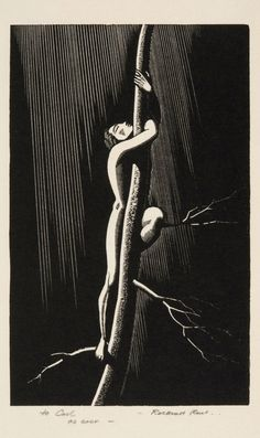 Almost, 1929. Rockwell Kent. Wood engraving …