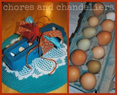 farm fresh eggs are a perfect gift to give...Spray paint the carton to make it farm FABULOUS fresh eggs