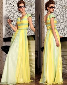 New Yellow Lime Cap Sleeve Bohemian Beach Ball Gowns Pageant Dresses Ball Gowns Prom, Pageant Dresses, Evening Dresses, Summer Dresses, Affordable Formal Dresses, Formal Dresses For Women, Glitz And Glam, Mellow Yellow, Special Occasion Dresses