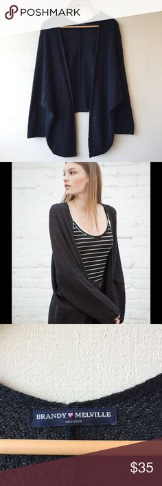 acdca21196463 Brandy Melville Caroline Open Cardigan Charcoal Like new condition! Dark  Charcoal