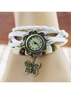 Simple Women Watch Leather Alloy Butterfly Pendant Wrist Watch is hot-sale, waterproof watches, bracelet watch, and more other cheap women watches are provided on NewChic. Body Jewelry, Jewelry Sets, Jewelry Watches, Women Jewelry, Cartier, Retro Watches, Butterfly Pendant, Fashion Watches, Pendant Jewelry
