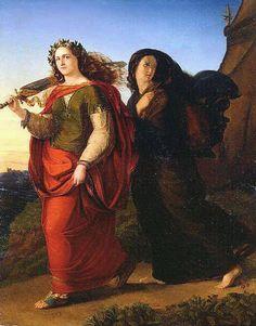 """Gottlieb Heinrich (von) Schroeter """"JUDITH RETURNING AFTER HAVING SLAIN HOLOFERNES"""" 1830"""