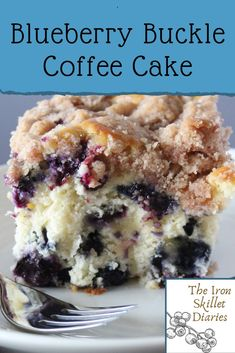 An easy and delicious summer baking classic. A great recipe to use up those fresh blueberries! Blueberry Buckle Coffee Cake – The Iron Skillet Diaries Iron Skillet Diaries Desserts An easy and delicious summer baking classic. Mini Desserts, Easy Desserts, Summer Desserts, Authentic Mexican Recipes, Dessert Simple, Easy Cake Recipes, Blueberry Buckle Recipe, Healthy Blueberry Recipes, Easy Blueberry Desserts
