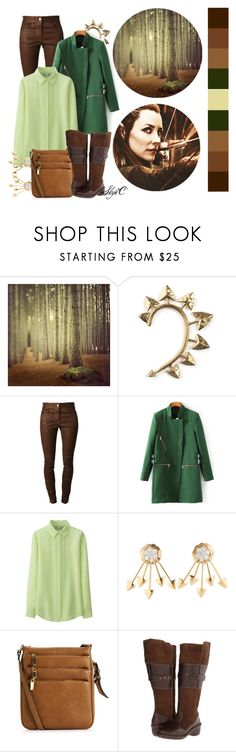 """""""Tauriel - Daily Look - The Hobbit"""" by rubytyra ❤ liked on Polyvore featuring WALL, Rachel Entwistle, Givenchy, Uniqlo, Lobo Solo and Dailylook"""