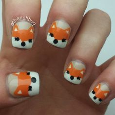 fox by thenailbug  #nail #nails #nailart