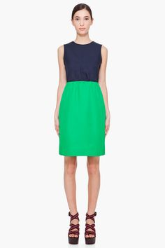 navy & green tate twill dress ▲ marc by marc jacobs