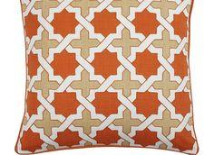 "Z Gallerie - Moroccan Pillow 22"" - Orange/Citrus"
