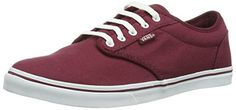 Vans Atwood Low Women US 6 Burgundy Skate Shoe ** More info could be found at the image url. (This is an affiliate link)