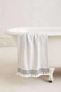 Anthropologie - Tasseled Dayton Hand Towel