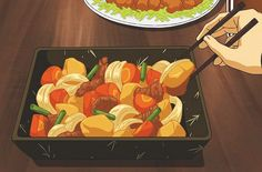 Let's take a moment to appreciate the beauty of anime food. Think Food, Love Food, Main Manga, Real Food Recipes, Yummy Food, Food Icons, Getting Hungry, Food Drawing, Indonesian Food