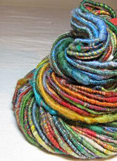 Handspun Art Yarn Corespun Sheeping Beauties by SheepingBeauty, $26.00