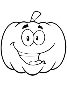 Cartoon Halloween Pumpkin coloring page from Pumpkins category. Select from 31983 printable crafts of cartoons, nature, animals, Bible and many more. Halloween Rocks, Halloween Images, Halloween Crafts For Kids, Halloween Pumpkins, Halloween Cartoons, Halloween Clipart, Coloring Pages For Kids, Coloring Books, Colouring