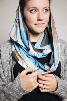 Saturday Morning infinity scarf - the hood