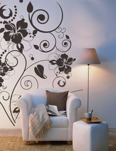Decorative Flower Vine Wall Stencils Idea Fantastic Decorations with Beautiful Floral Wall Stencils Idea