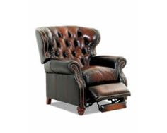 Chesterfield Leather Sofa With Tufted Bench Seat & Nail Trim - Club Furniture Leather Recliner Chair, Leather Chesterfield, Leather Club Chairs, Chesterfield Chair, Recliner Chairs, Recliners, Sleeper Sectional, Tufted Chair, Chair Pillow
